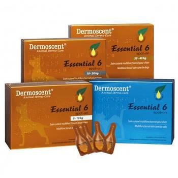 Мультифункциональное средство Dermoscent Essential-6 spot-on по  уходу за кожей и шерстью всех типов, (4