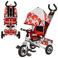 Детский трёхколёсный велосипед LE-3-03UKR-AIR бело-красный Profi Trike EVA Foam