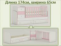 Трансформируемая детская кровать Oris-mebel Maya NEW (цвета в ассортименте)