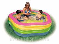 """Семейный надувной бассейн """"Звездочка"""" Intex 56495"""