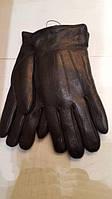 Ужские перчатки из натуральной кожи оленя подкладка натуральная шерсть овчины