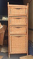 Комод трёхъярусный с корзиной для белья