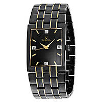 Наручные часы Bulova Men's 98D004 Diamond Dial Black Watch