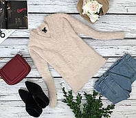 Романтичный пуловер H&M из фактурной пряжи со спущенным плечом   SH4325