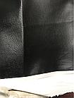 ВИНИЛИСКОЖА ДЛЯ ОБИВКИ ДВЕРЕЙ, МЕБЕЛИ гладкий 1,4м Черный, фото 2