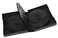 Коробка/бокс для DVD/CD (13.5 мм х 19 мм) на 10 дисков, 33 mm, Black, 1 шт