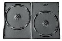 Коробка/бокс для DVD/CD (13.5 мм х 19 мм) на 2 диска, 14 mm, Black, 100 шт