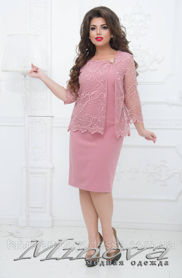 Вечірній гарну сукню від ТМ Мінова прямий постачальник Розміри: 50.52.54.56