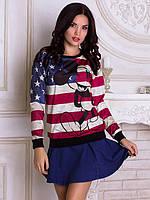 Женский свитшот Микки флаг Америки