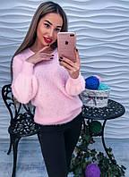 Женский теплый и мягкий свитер с бусинами