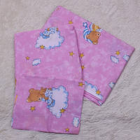 Сменный комплект постельного детское (розовое)
