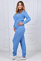 Женский удобный теплый спортивный костюм большого размера. Ткань: шерсть с акрилом. Размер: 48-54.