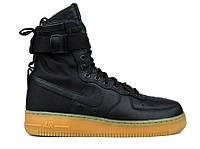 Женские кроссовки Nike Air Force SF1 Черные, фото 1