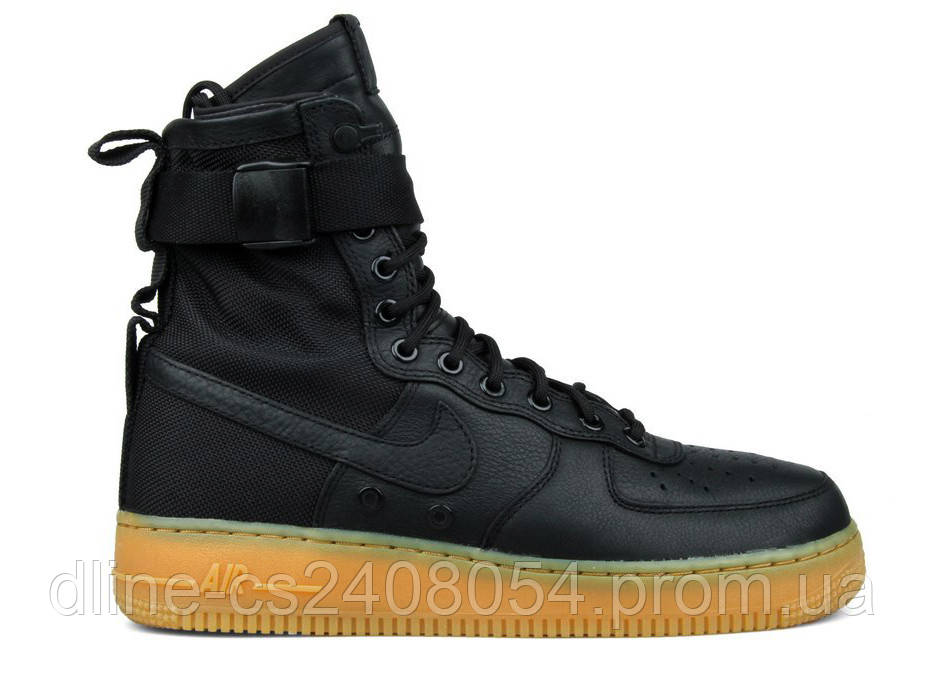 Женские кроссовки Nike Air Force SF1 Черные