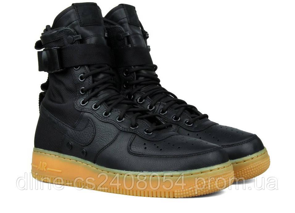 Мужские кроссовки Nike Air Force SF1 Черные