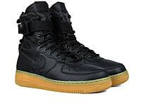 Мужские кроссовки Nike Air Force SF1 Черные, фото 1