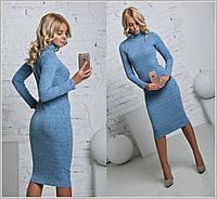 Теплое универсальное платье из ангоры ниже колена, фото 1