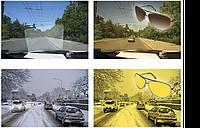 2 штуки антибликовые и солнцезащитные очки Smart View, для водителей и спортсменов, Чёрные и жёлтые, В наличии