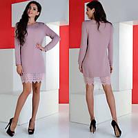 Нежное и теплое платье с французским кружевом
