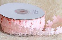 Кружево лента Бантик, розовый цвет, 2 см, 20 м моток