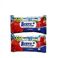 Влажные салфетки BRAVO+ клубника (15шт)