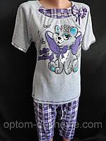Женские пижамы с короткими рукавами и короткими штанами., фото 1