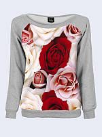 Женский свитшот Ароматные розы