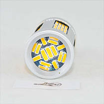 Самая яркая LED лампа в поворот PY21W)(1156)(BAU15S) 135-4014 led Желтый с обманкой, фото 3