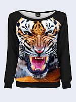 Женский свитшот Зеленоглазый тигр