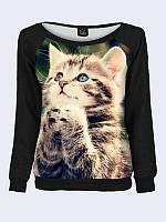 Женский свитшот Полосатый котенок