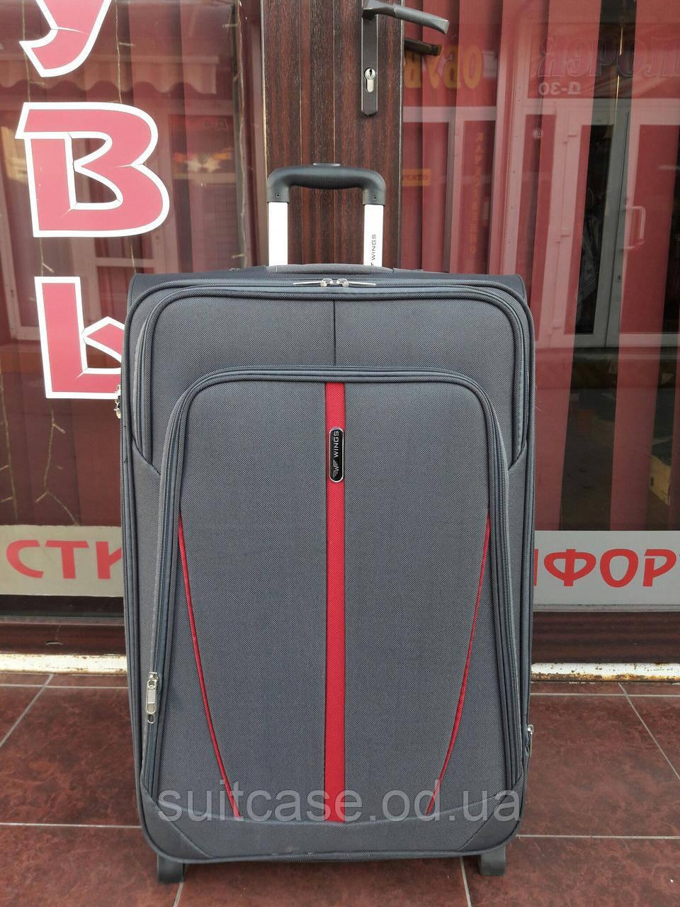 Чемодан дорожный тканевый большой Wings 1706 , на 2-х колесах -  Интернет-магазин a6e063a5096