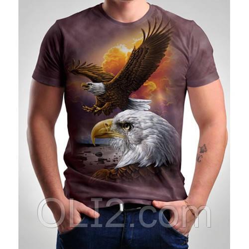 Мужские футболки 3 D орел