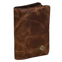 Кожаный Мужской Кошелек (модель Texas) коричневый