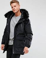 Парка\куртка D-Struct - Thornate черная на меховой подкладке (мужская/чоловіча) Зима