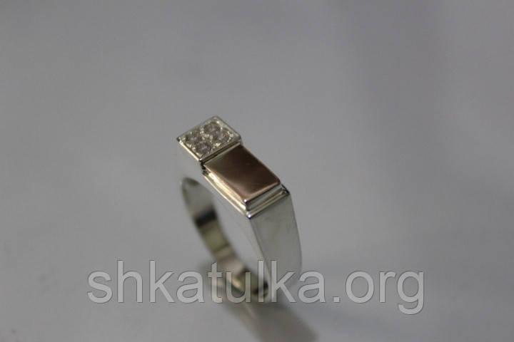 Печатка серебряная с золотом