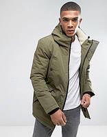 Парка\куртка D-Struct - Lapstole Зеленая хаки с меховой отделкой (мужская/чоловіча) Зима