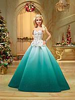 Кукла Барби коллекционная Праздничная в зеленом платье Barbie 2016 Holiday Doll DGX98