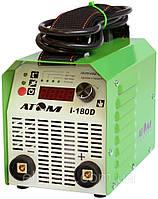 Сварочный инвертор Атом I-180D с кабелем 3+2 и зажимами Abicor Binzel