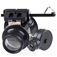 Лупа-очки бинокулярная с LED (светодиодной) подсветкой MAGNIFIER 9892A-II