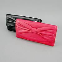 Кошелек кожаный бант черный/красный Prensiti 42002, фото 1
