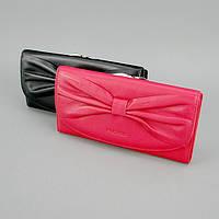 Кошелек кожаный бант черный/красный Prensiti 42002 Красный