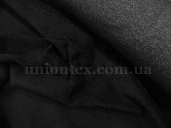Мех искусственный овчина черная, фото 2