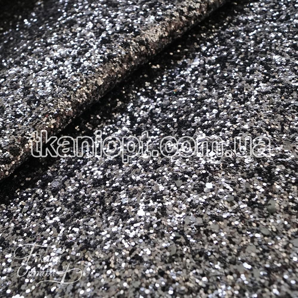 28fc310163dc1 Ткань Ткань глиттер на хб основе (серебро с черным) - Ткани Оптом в Харькове