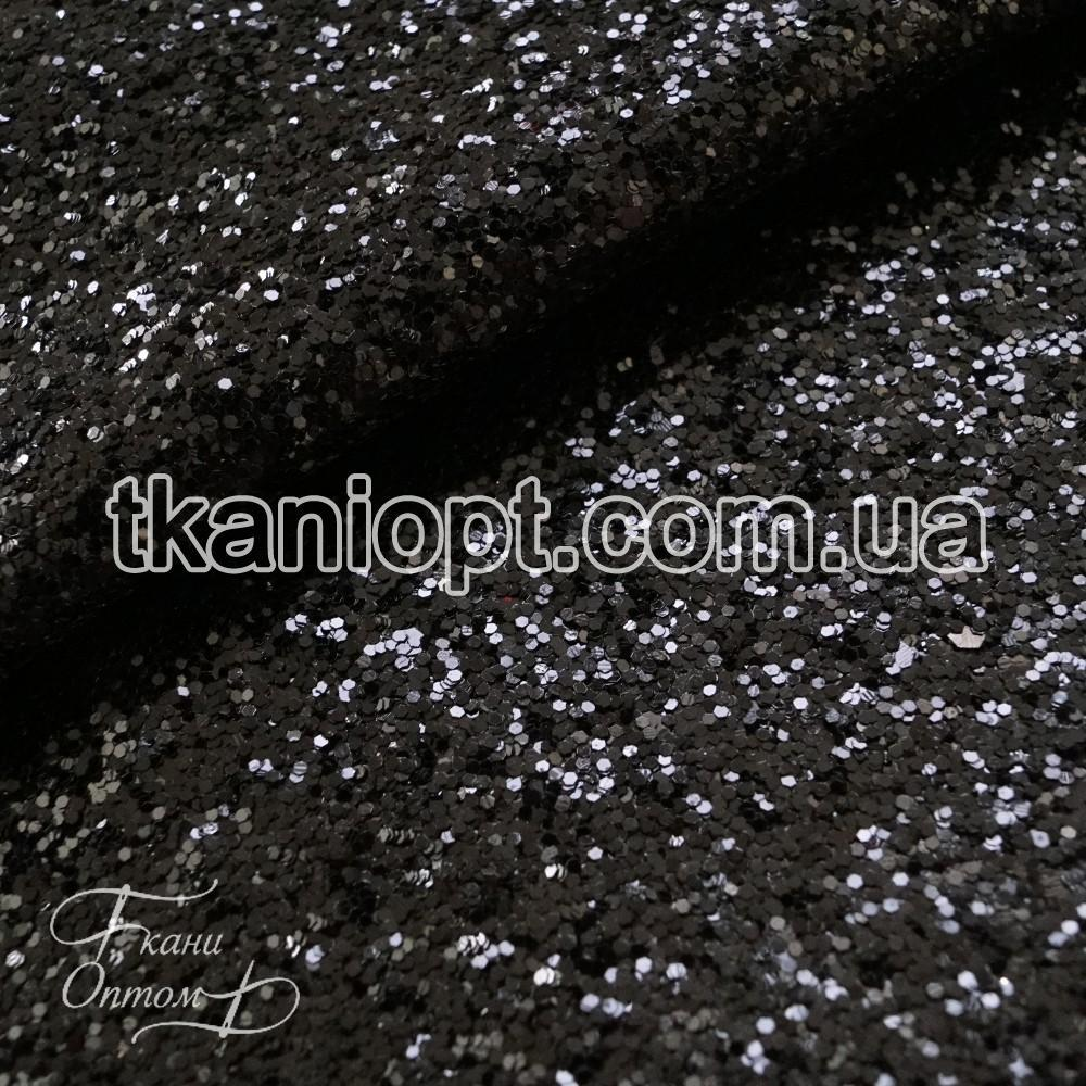 86bf62d7b3200 Ткань Ткань глиттер на хб основе (черный), цена 216 грн./м, купить в ...