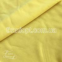 Ткань Трехнитка с начесом (желтый), фото 1