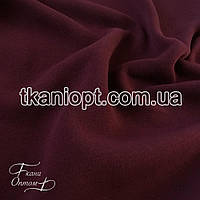 Ткань Трехнитка с начесом (марсала)