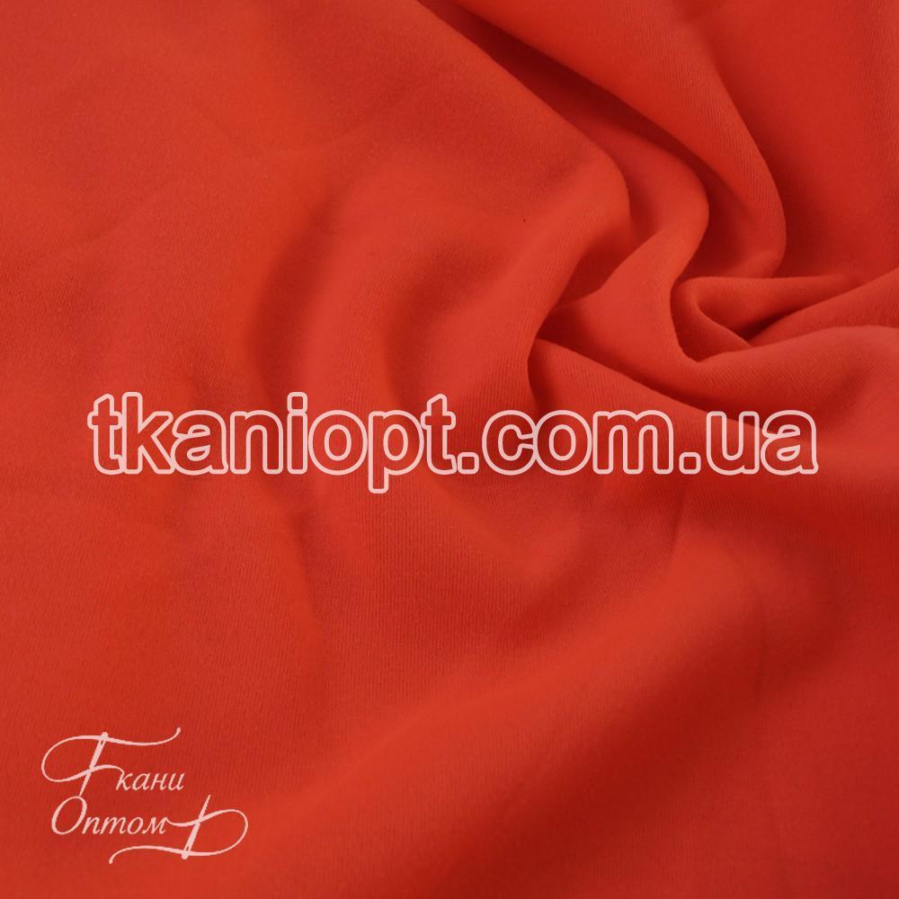 Ткань Трехнитка с начесом Турция (неон-оранжевый)