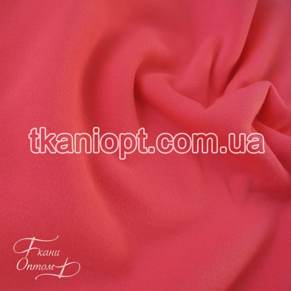 Ткань Трехнитка с начесом Турция (неон-розовый)