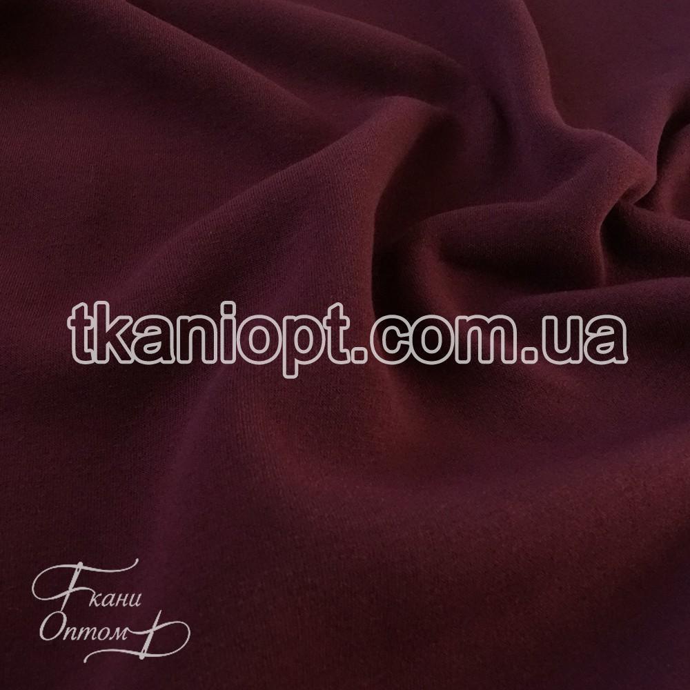 Ткань Трехнитка с начесом Турция (марсала)