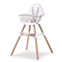 Childhome - Стульчик для кормления 2в1 EVOLU, цвет natural / white